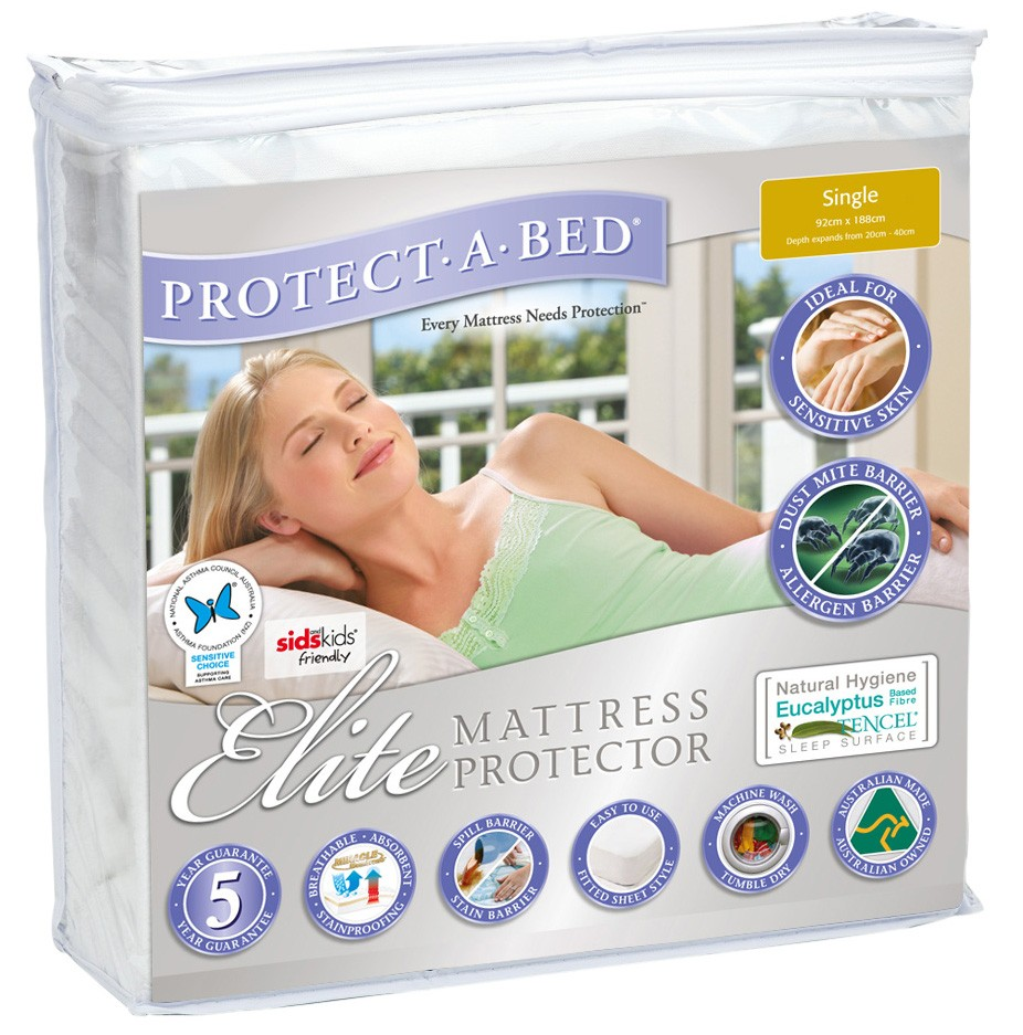 elite mattress protector protection icons